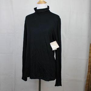 14th & Union Black Turtleneck Tissue Weight NWT L